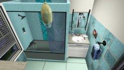 ciekawe wnętrze łazienki