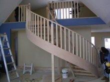 Drewniana balustrada